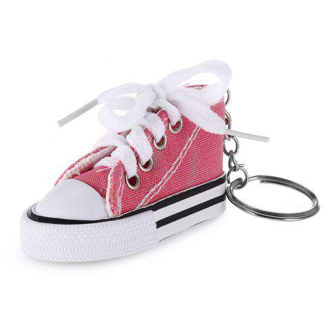 Emulational Classical Canvas Shoes Modeling Key Chain Holder Decor for Bags - LIGHT PINK