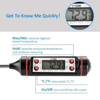 COZZINE Digital Instant Read Thermometer -  BLACK