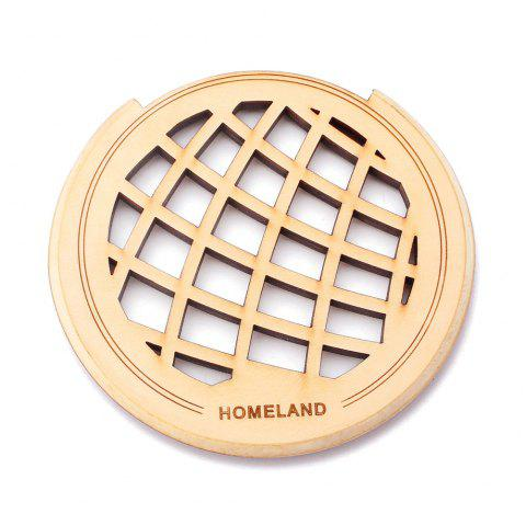 Homeland Simple Wood Color Guitar Hole Sound Cover for 40 / 41 inch Guitar - WOOD