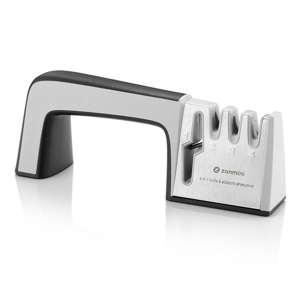 zanmini ZKS04 4 in 1 Knife Sharpener - BLACK GREY