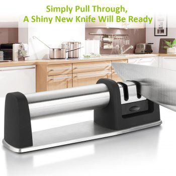 zanmini ZKS02 2 Slot Knife Sharpener -  BLACK GREY
