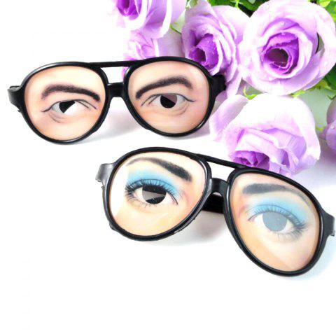 1PC Creative Women Plastic Glasses Trick Toy for Halloween - 02