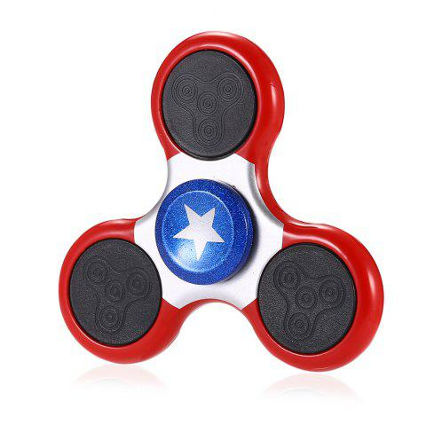 Animation Style Fidget Tri-spinner with 18 LED Flash Patterns - PINK/SILVER
