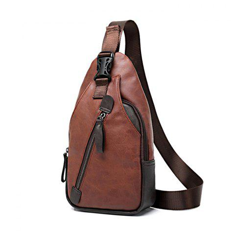 Kaka 55003 PU 5L Leisure Sling Bag with Sunglasses - BROWN