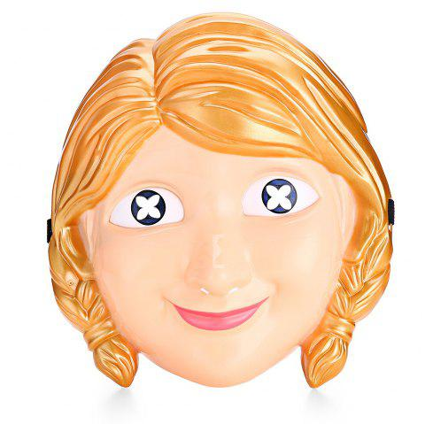 Cartoon Princess Character Halloween Themed Mask - COLORMIX