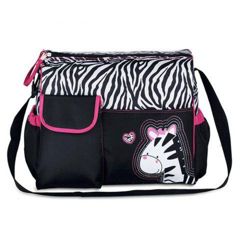 Giraffe Pattern Large Capacity Diaper Bag Baby Nappy Wet Clothes Accessories Storage Dual Zipper Container - TUTTI FRUTTI