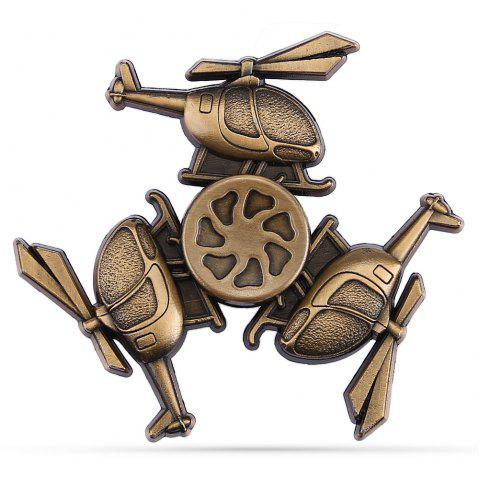 Retro Helicopter Zinc Alloy R188 Bearing Fidget Tri-spinnner - Or