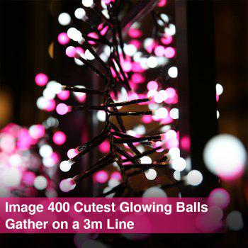 zanflare 3m LED Outdoor String Ball Light - WHITE LIGHT / PINK LIGHT US PLUG