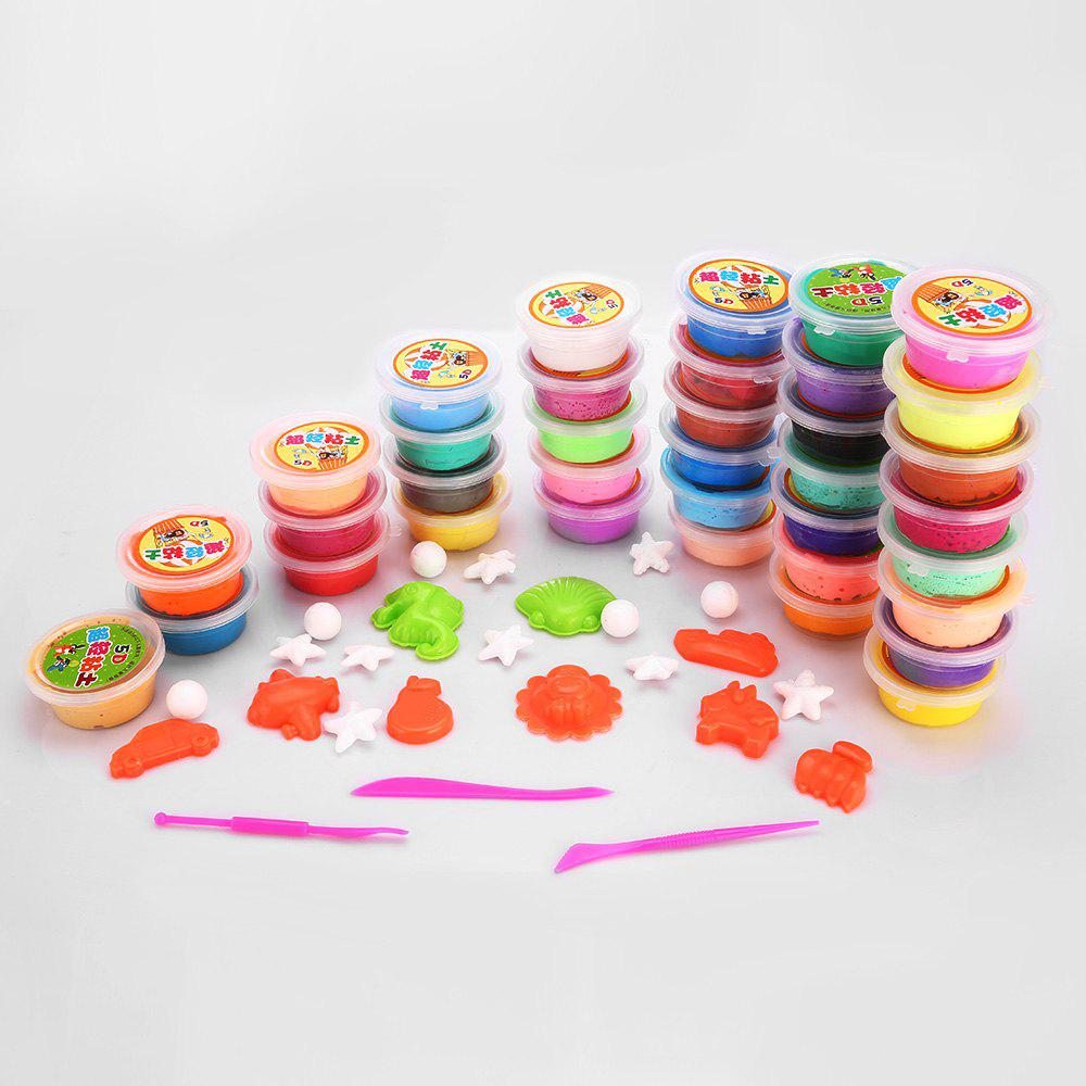 36 Colors DIY Stress Relief Toy Colorful Resin Clay Mud for Kids Handicraft Game - COLORFUL