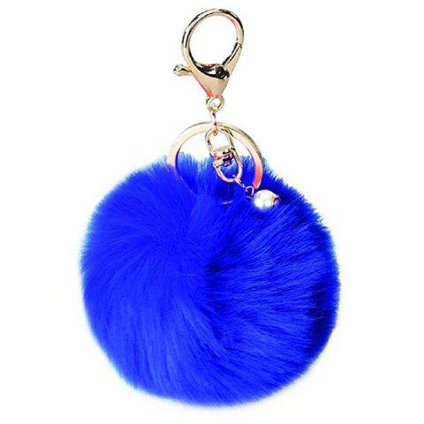 Lovely Sphere Style Sunday Angora Yarns Key Chain Hang Decoration for Bag - BLUE