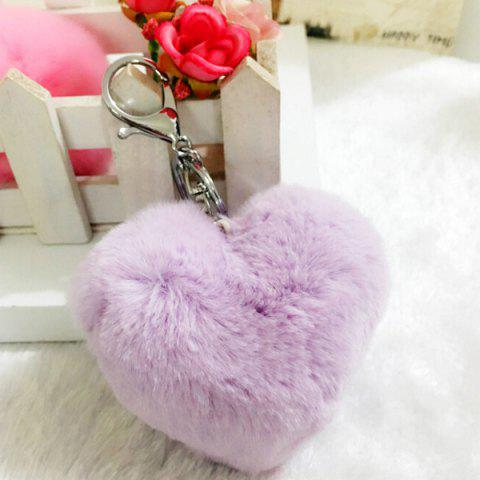 Lovely Heart Pattern Plush Key Chain Hang Decoration for Bag / Car - PURPLE