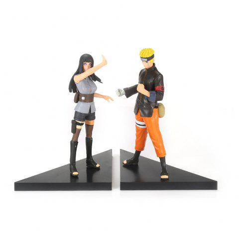 2PCS Fighting Japanese Cartoon Character Figurine for Collection - COLORMIX