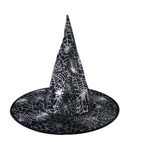 Halloween Decoration Witch Triangle Shape Hat - WHITE/BLACK STYLE 4