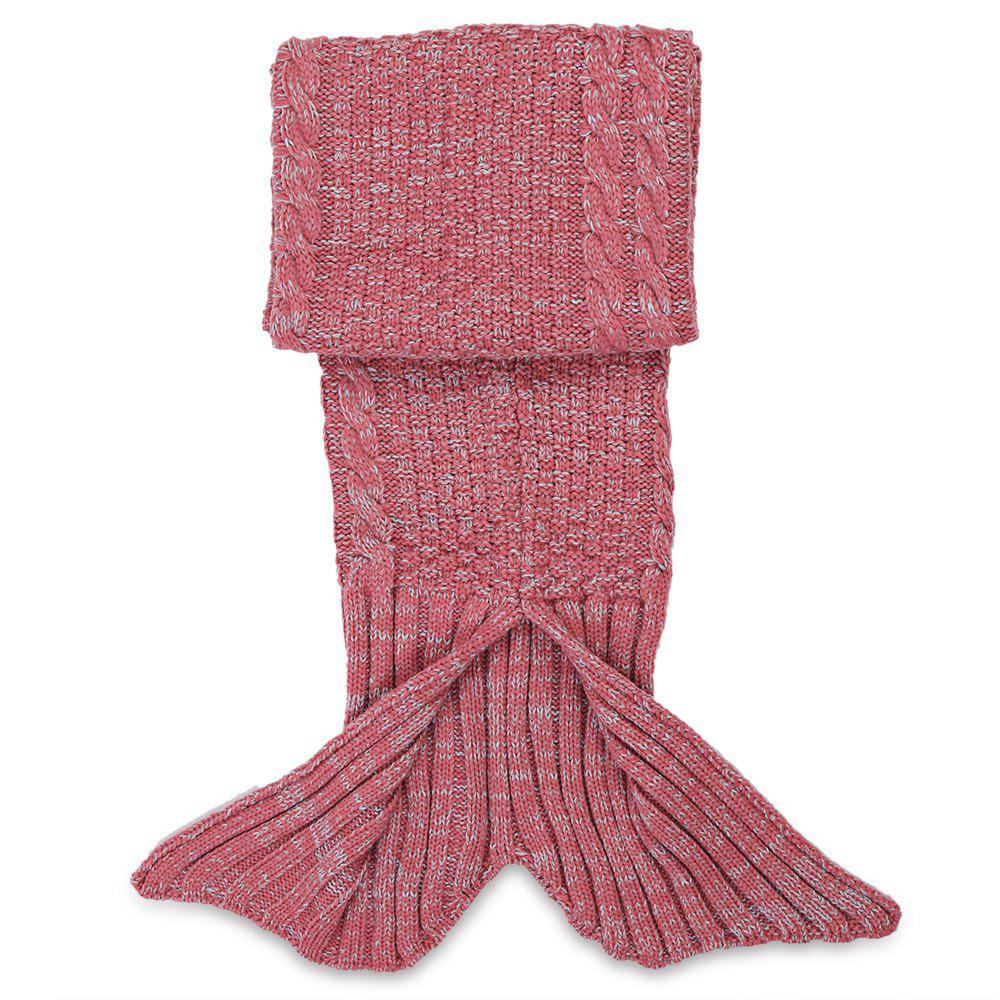 Crocheted / Knited Mermaid Tail Style Blanket - RED KID