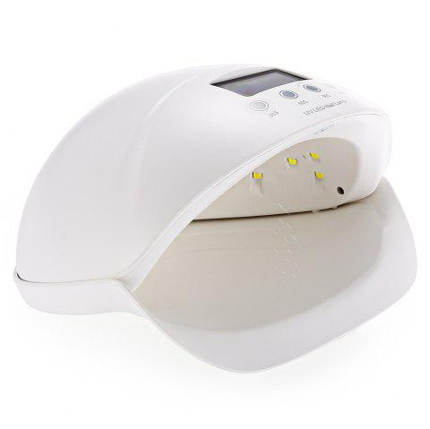 UV - 001 50W UV LED Nail Lamp Curing Dryer 28 Light Beads with 3 Timer Setting Gel Based Polishes Physiotherapy Skin Care - WHITE