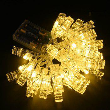 LED 20pc-clip Light String Warm White Lights Decorative Lights -  WARM WHITE LIGHT