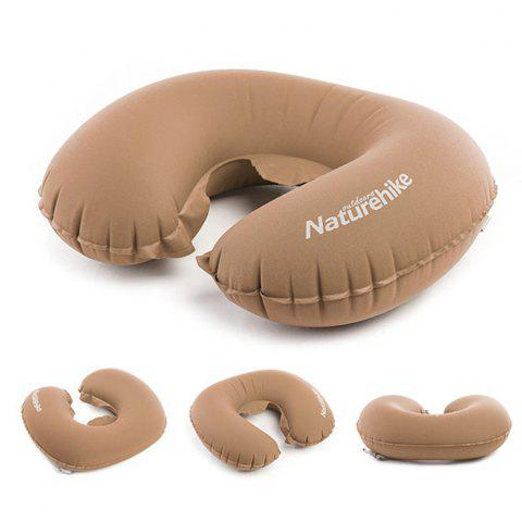 NatureHike U-shaped Inflated Pillow TPU Polyester Fiber Made - BROWN