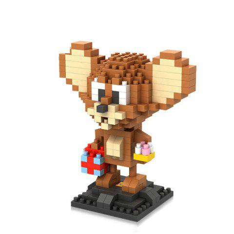 LOZ 280Pcs L - 9446 Tom and Jerry Mouse Figure Building Block Educational DIY Toy - COLORMIX