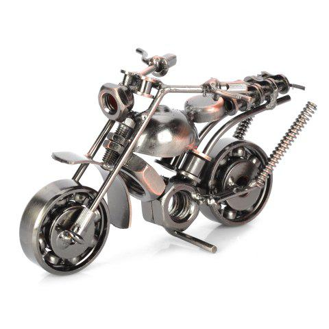 Retro Style Metal Motorbike Pattern Decoration Toy for House / Office - COLORMIX