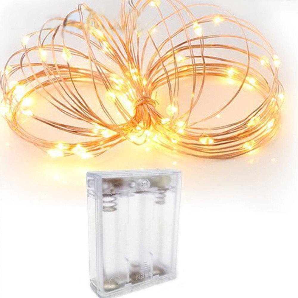 2M 20LED 3AA 4.5V Battery Powered Waterproof Decoration LED Copper Wire Lights String for Christmas Festival Wedding Party 10m 33ft 100 led 5v usb outdoor warm white rgb led copper wire string fairy lights christmas festival wedding party decoration