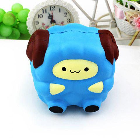 Emulational Sheep Pattern Slow Rising Squishy Stress Relief Toy - BLUE