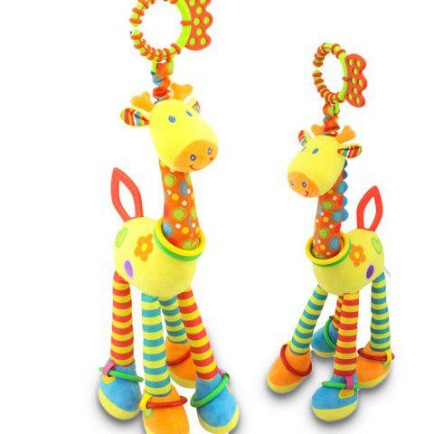 Giraffe Style Plush Hang Decoration Toy with BB Paging / Voice Paper /  Teether for Baby Bed / Carriage 1PC