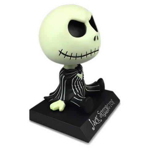 Skull Character Shaking Head Toy pour Halloween Décoration - multicolore
