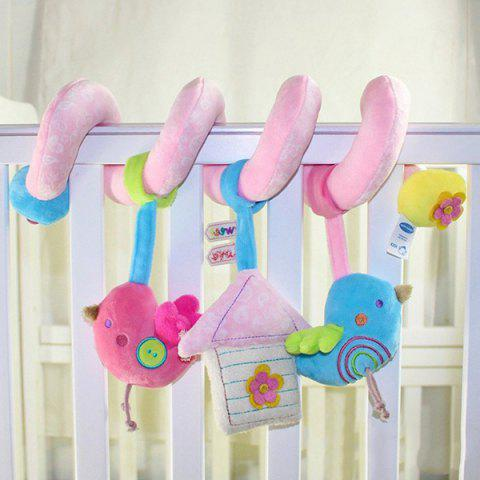 Birds Style Plush Spiral Toy with Rattle / BB Paging for Baby - COLORMIX