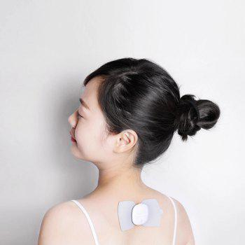 LERAVAN Mi Home Electrical TENS Pulse Therapy Massage Machine Acupuncture Snap-on Electrode Pads Body Patch - BLACK/GREY