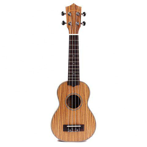 Homeland A2103 High Quality Zebrawood 4 String Acoustic Ukelele - LIGHT BROWN