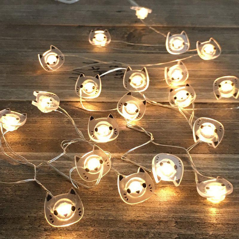 2018 led string lights cat shape 20 leds timer control waterproof