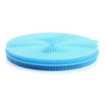 1PC Multi-purpose Vegetables Fruit Silicone Sponge Dish Brush Antibacterial Kitchen Cleaning Pad -  BLUE