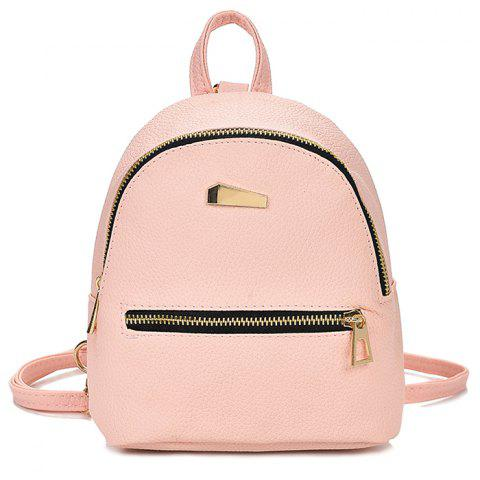 Cute Solid Color Mini Backpack for Women - PINK