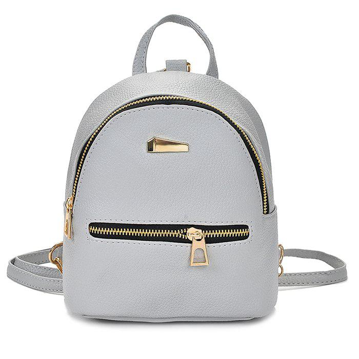 Cute Solid Color Mini Backpack for Women - GRAY