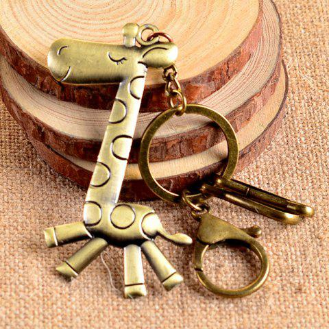 Popular Retro Keychain Christmas Elk Toy / Gift - BRONZE COLORED