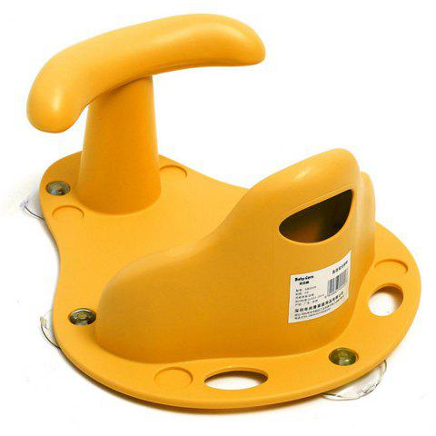 2-in-1 Infant Anti Slip Bath / Dinning Baby Security Chair - YELLOW