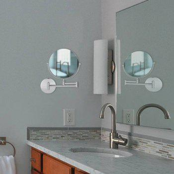 COZZINE CZ - 4001 - S01 10X Double-Sided Swivel Wall Mount Makeup Mirror -  SILVER