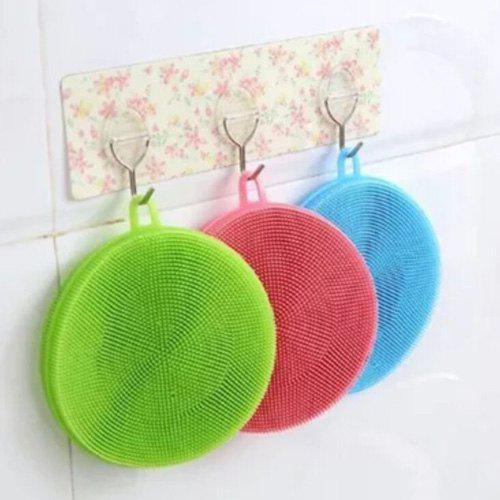 Antibacterial Silicone Dishwashing Cleaning Brush Kitchen Cleaning Pad Cup Mat Pot Holder 8pcs chrome plated brass toilet brush holders wall mounted luxury wc brush head ceramic cup holder hardware bath room accessories set