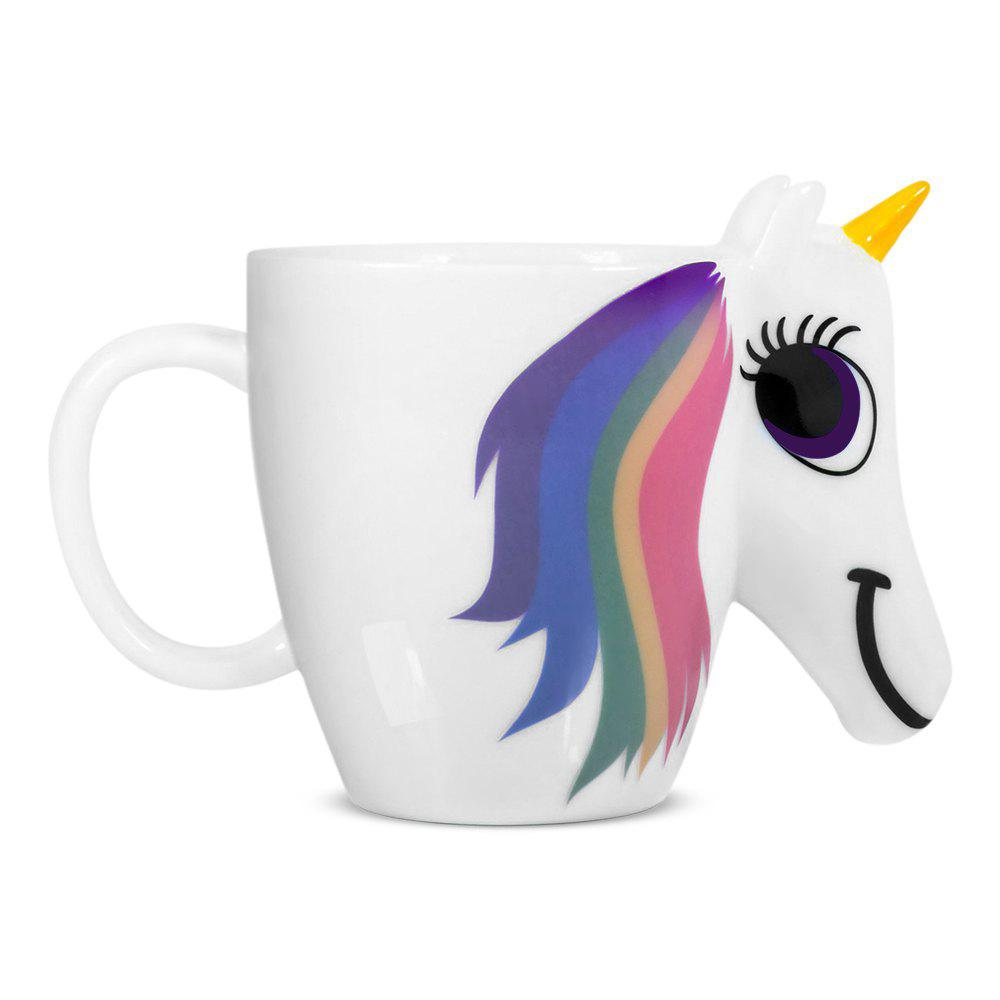 COZZINE Magic Unicorn Pattern Ceramic Heat Sensitive Mug Rainbow Color Changing Coffee Cup cozzine unicorn heat sensitive mug color changing cup 3pcs