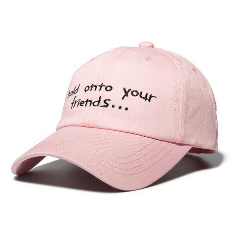 Letter Vintage-inspired Leisure Sports Street Cap for Couple - PINK