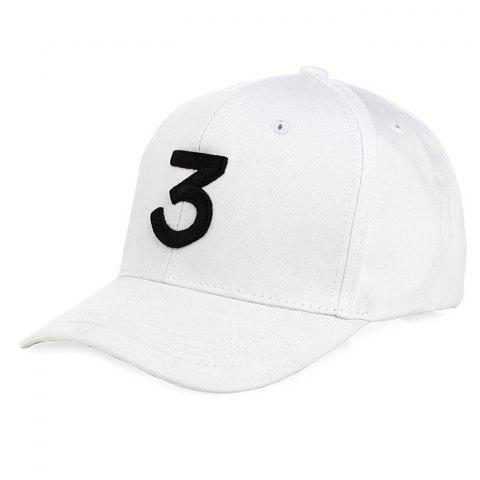 Couple Simple Letter Embroidered Plain Baseball Sun Hat for Men - WHITE