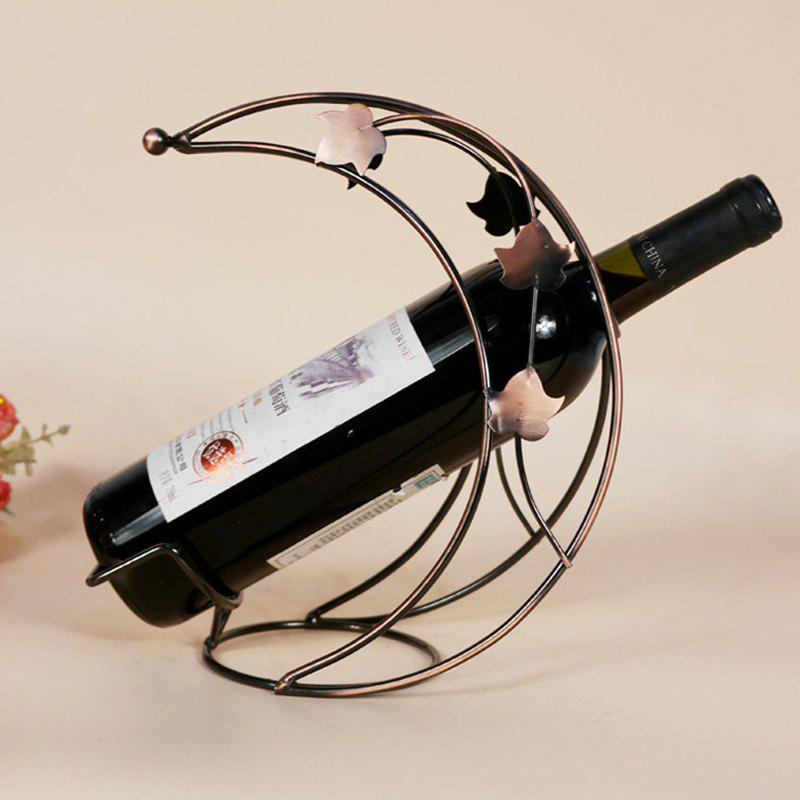 Creative Iron Art Fashion Moon Shape Wine Rack - COPPER
