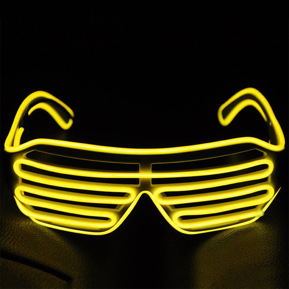 YouOKLight DC 3V 3 Modes Sound Control Flash El LED Glasses Luminous Party Lighting Colorful Glowing Classic Toys for Dance DJ Party Mask 1PC luminous costumes glowing gloves shoes light clothing men dance clothes for holiday lighting decor