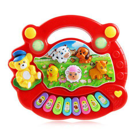 Intelligence Animal Music Instrument Piano Toy for Kids - RED