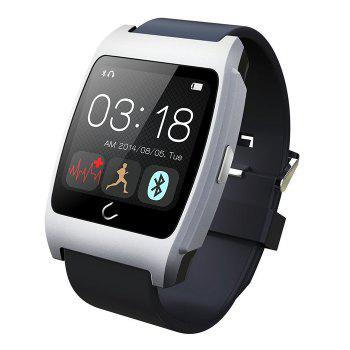 U Watch Ux Smart Watch with Heart Rate Monitors Pedometer Calorie Burned Sleep Monitor Remote Camera Anti-lost Find Phone - SILVER SILVER