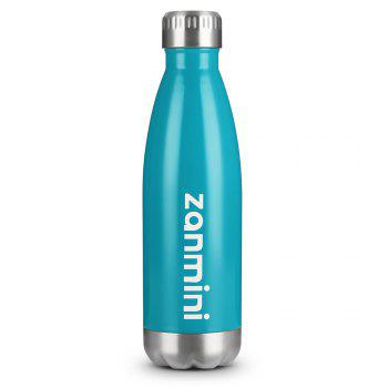 zanmini Stainless Steel Cola Vacuum Insulated Water Bottle 500ML - BLUE BLUE
