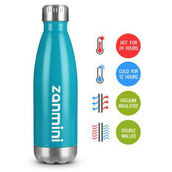 zanmini Stainless Steel Cola Vacuum Insulated Water Bottle 500ML - BLUE