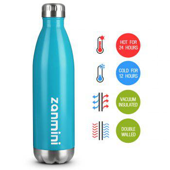 zanmini Stainless Steel Cola Vacuum Insulated Water Bottle 750ML - BLUE