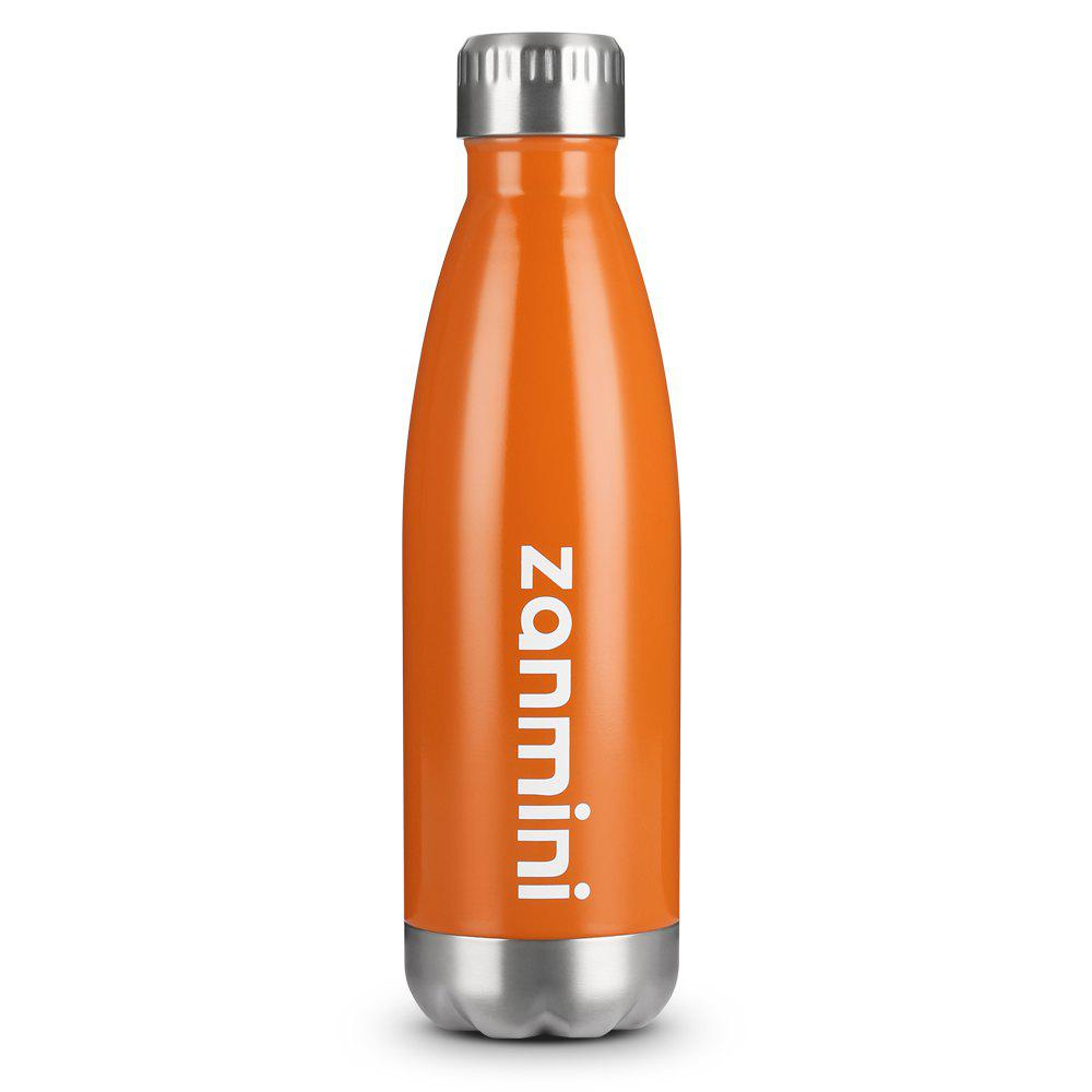 zanmini Stainless Steel Cola Vacuum Insulated Water Bottle 500ML 1l insulated stainless steel water bottle with push button sky blue