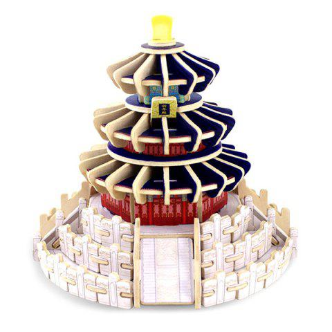 DIY 3D Wooden House Model Pretend Play Jigsaw Puzzle - COLORMIX BEIJING TEMPLE OF HEAVEN